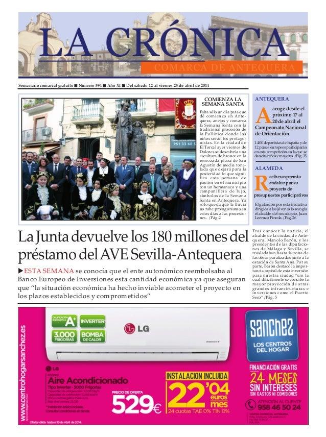 Semanario comarcal gratuito Número 594 Año XI Del sábado 12 al viernes 25 de abril de 2014 A acoge desde el próximo 17 al ...