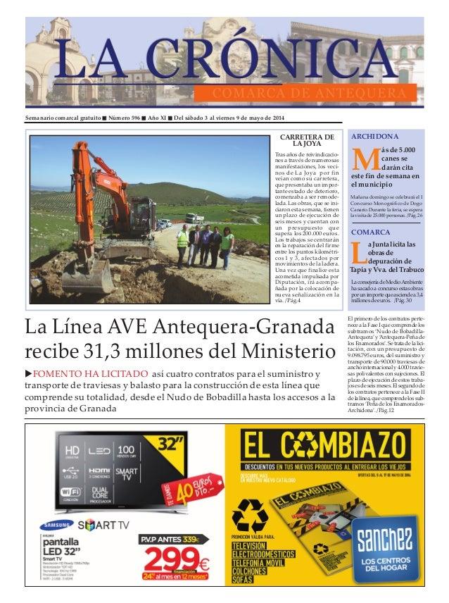 Semanario comarcal gratuito Número 596 Año XI Del sábado 3 al viernes 9 de mayo de 2014 M ás de 5.000 canes se darán cita ...