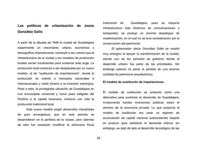 38  En el tercer informe de gobierno ya se habla de la ampliación de las principales arterias de la ciudad:  La necesidad ...