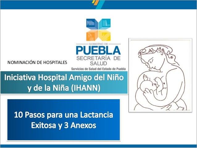 NOMINACIÓN DE HOSPITALES