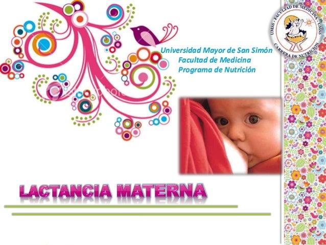 Universidad Mayor de San Simón Facultad de Medicina Programa de Nutrición