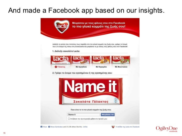 And made a Facebook app based on our insights.
