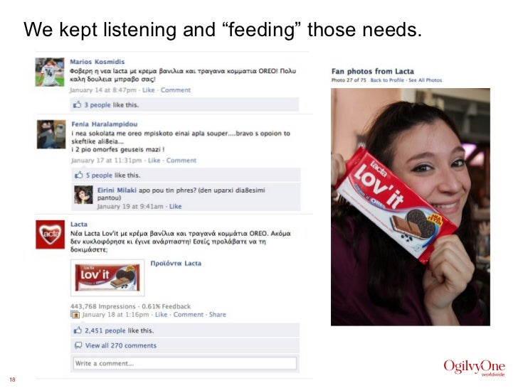 """We kept listening and """"feeding"""" those needs."""