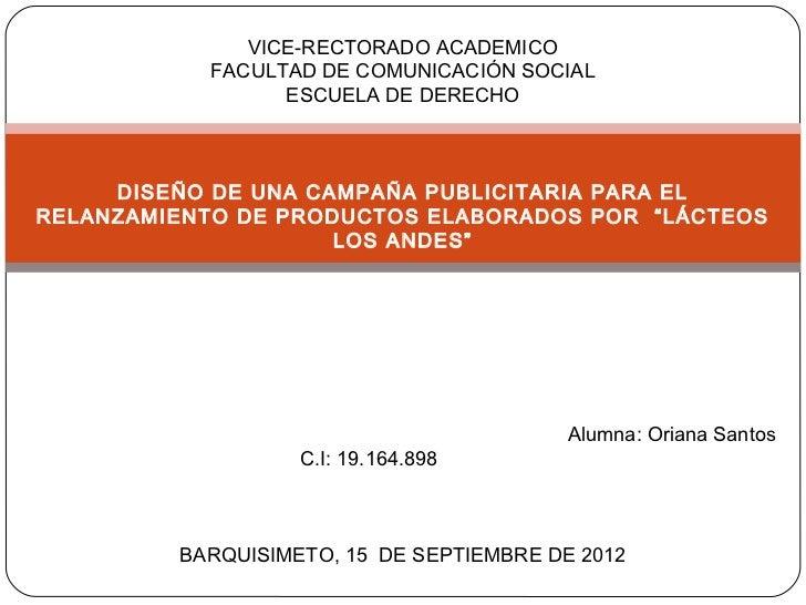 VICE-RECTORADO ACADEMICO           FACULTAD DE COMUNICACIÓN SOCIAL                 ESCUELA DE DERECHO     DISEÑO DE UNA CA...