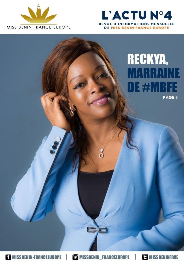 °4REVUE D'INFORMATIONS MENSUELLE DE MISS BENIN FRANCE EUROPE MISSBENIN_FRANCEEUROPEMISSBENIN-FRANCEEUROPE MISSBENINFRUE RE...