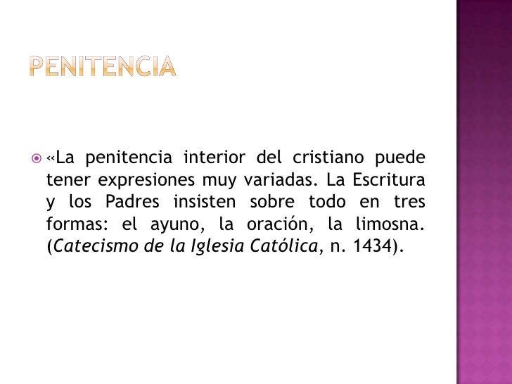 Resultado de imagen para 1434 La penitencia interior del cristiano puede tener expresiones muy variadas.