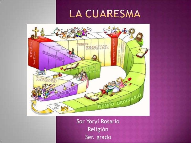Sor Yoryi Rosario     Religión   3er. grado