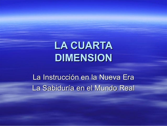 La cuarta dimension el escriba power point 3
