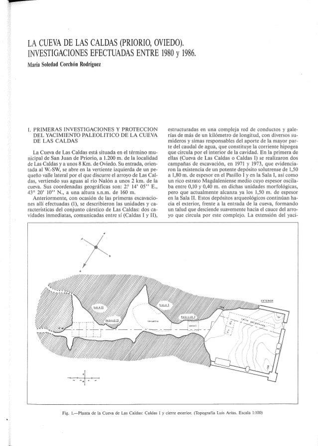 LA CUEVA DE LAS CALDAS (PRIORIO,  OVIEDO).  INVESTIGACIONES EFECTUADAS ENTRE 1980 y 1986.  María Soledad Corchón Rodríguez...