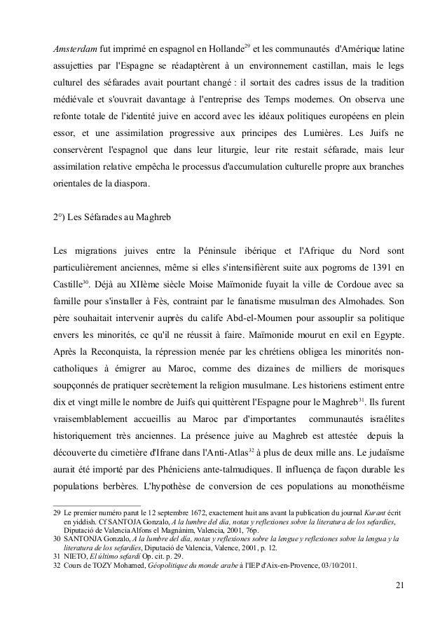 Amsterdam fut imprimé en espagnol en Hollande29 et les communautés d'Amérique latine  assujetties par l'Espagne se réadapt...