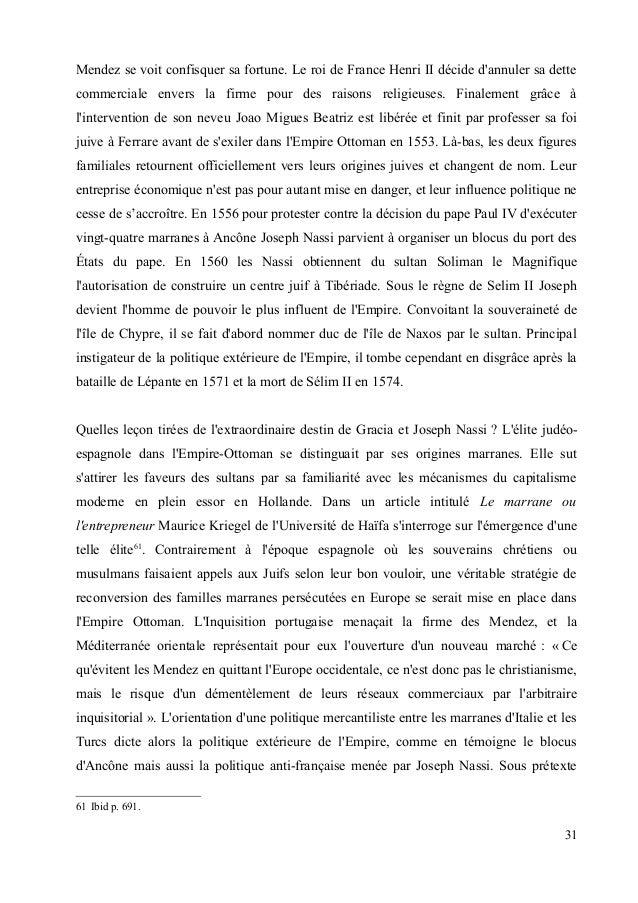Mendez se voit confisquer sa fortune. Le roi de France Henri II décide d'annuler sa dette  commerciale envers la firme pou...