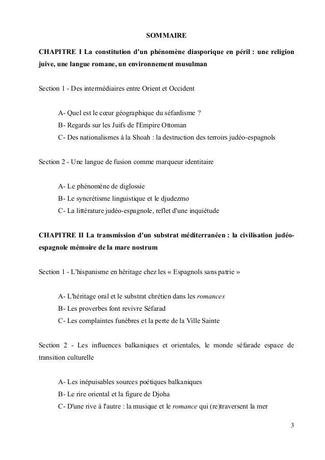 SOMMAIRE  CHAPITRE I La constitution d'un phénomène diasporique en péril : une religion  juive, une langue romane, un envi...