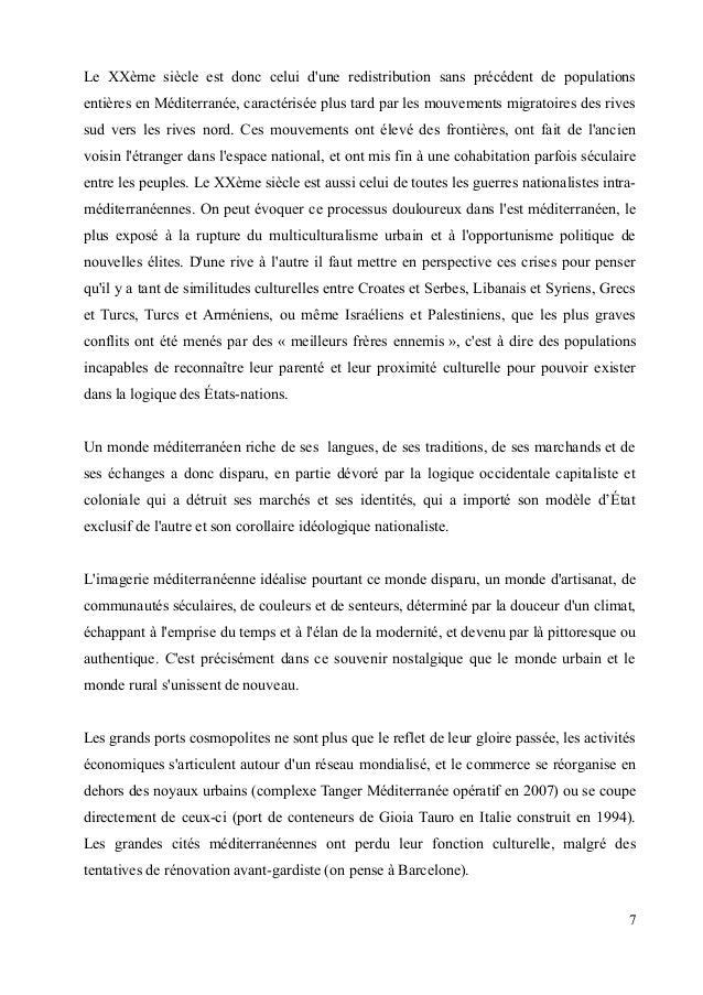 Le XXème siècle est donc celui d'une redistribution sans précédent de populations  entières en Méditerranée, caractérisée ...