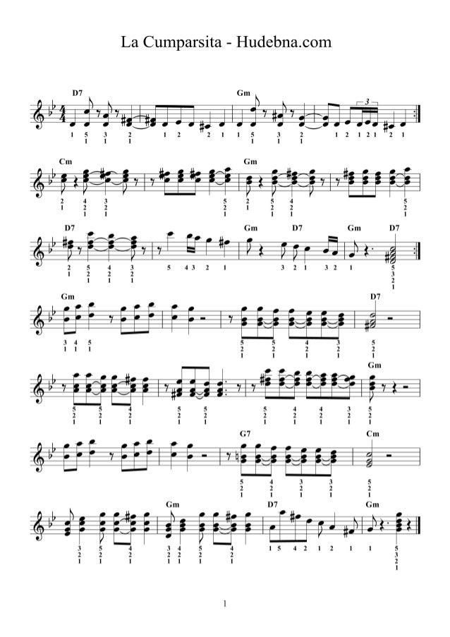 La cumparsita - accordion and piano sheet