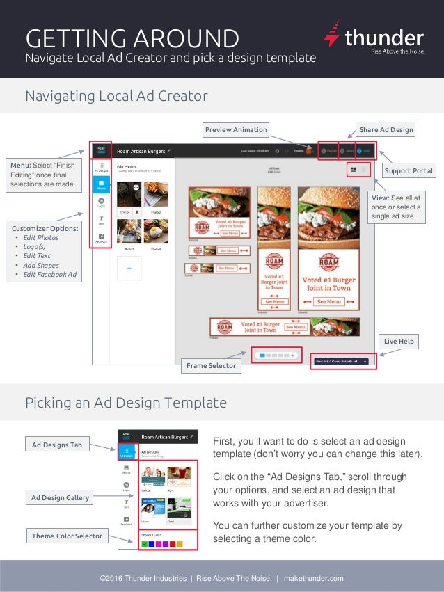 thunder local ad creator user guide rh slideshare net create user guide zoho creator user guide