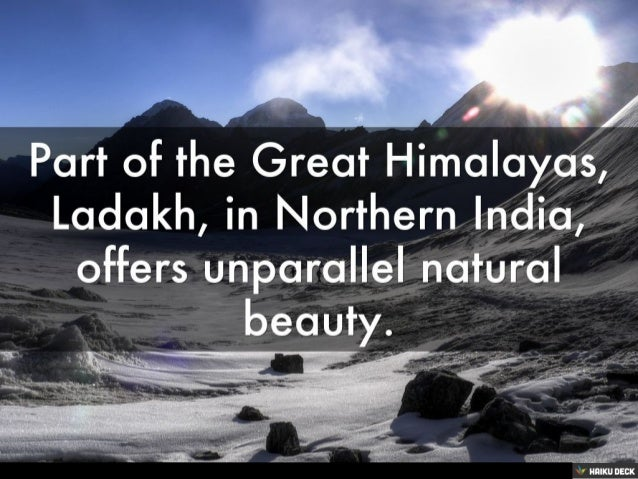 Ladakh The Land of High Passes Slide 2