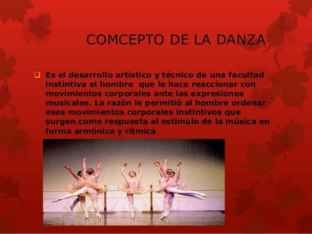 IMPORTANCIA la importancia de la danza es que es una de lasprimeras expresiones a través de la cual se comunica,siendo la...