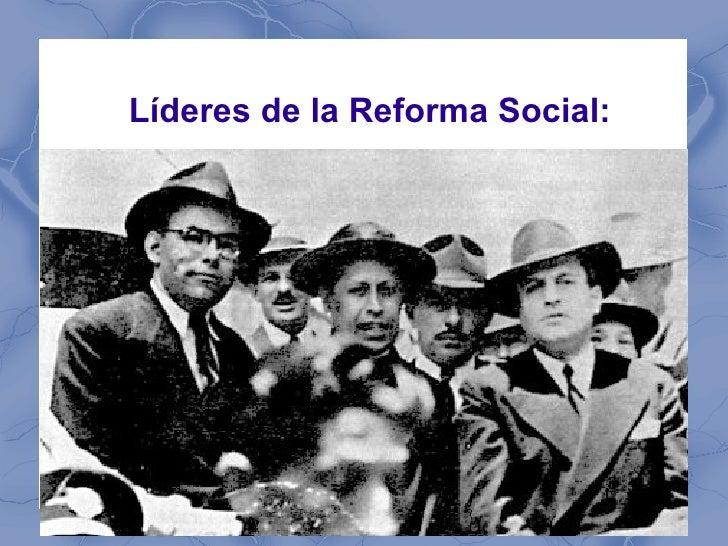 Líderes de la Reforma Social: