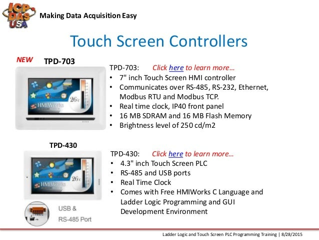 Ladder Logic and Touch Screen PLC Programming Tutorial/Training