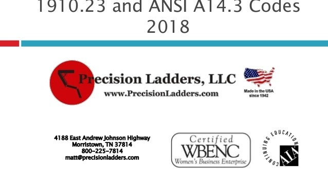 Ansi asc a14. 3-2008 american national standards for ladders.