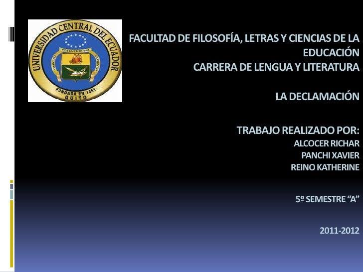 FACULTAD DE FILOSOFÍA, LETRAS Y CIENCIAS DE LA                                   EDUCACIÓN            CARRERA DE LENGUA Y ...
