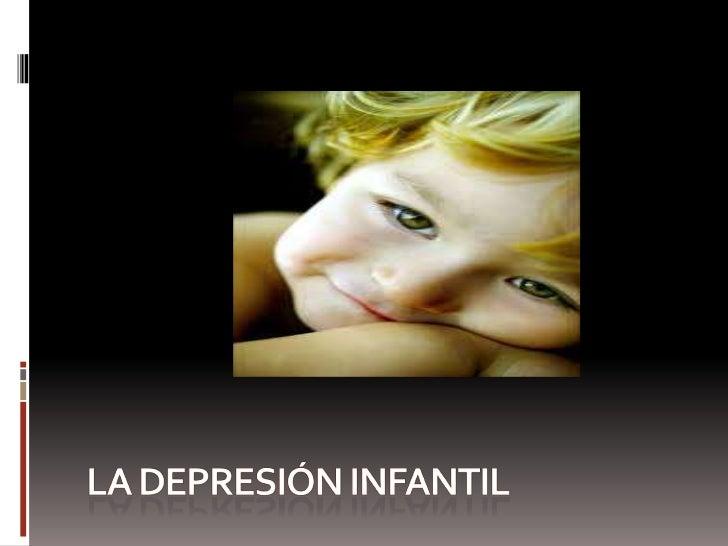 La depresión infantil<br />