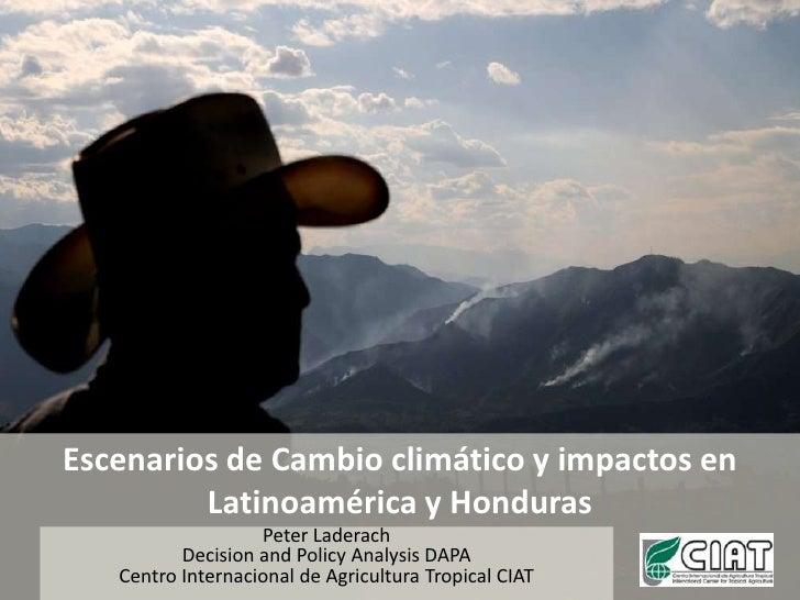 Escenarios de Cambio climático y impactos en Latinoamérica y Honduras<br />Peter Laderach<br />Decision and Policy Analysi...