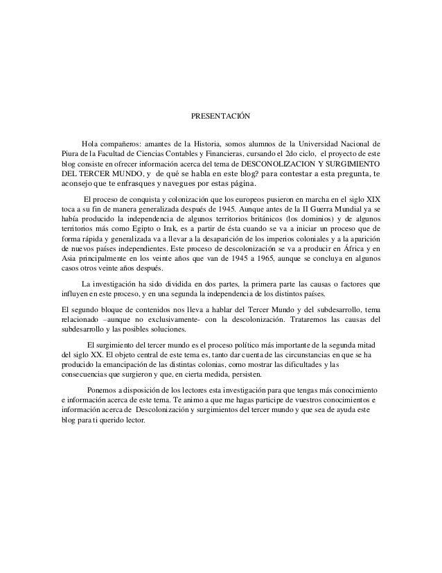 PRESENTACIÓN  Hola compañeros: amantes de la Historia, somos alumnos de la Universidad Nacional de Piura de la Facultad de...