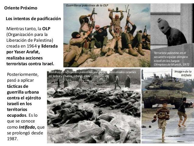 Oriente Próximo Los intentos de pacificación En 1991 se celebró la Conferencia de Madrid, que culminó en los Acuerdos de O...