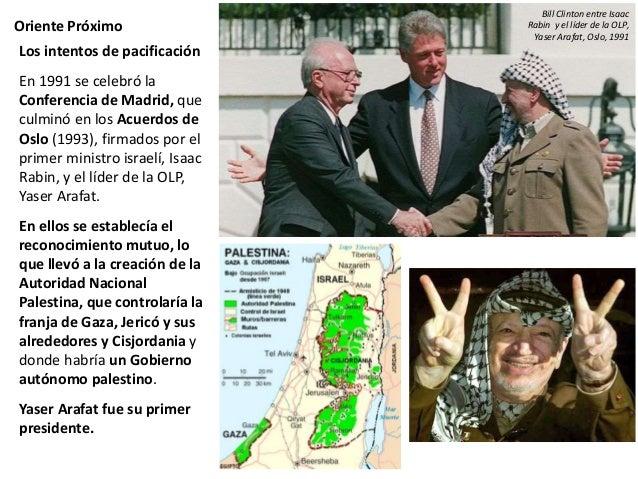 Oriente Próximo Pero esto no ha puesto fin al conflicto. Israel continúa fundando colonias en territorio palestino y las r...