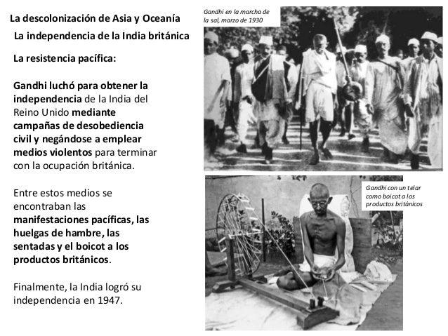 La descolonización de Asia y Oceanía La independencia de la India británica