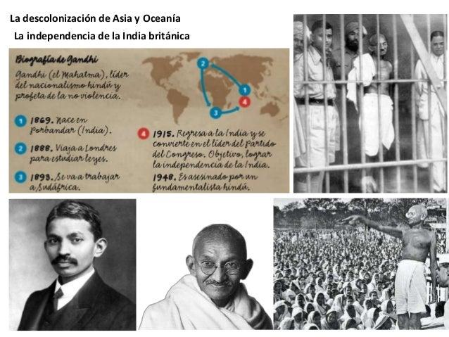 """La descolonización de Asia y Oceanía """"La no-violencia no es """"la renuncia a toda lucha real contra la maldad"""". Por el contr..."""