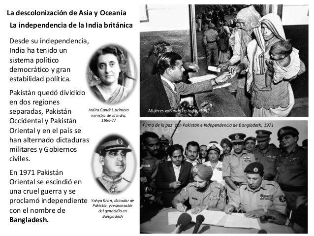 La descolonización de Asia y Oceanía Cuando la colonia francesa de lndochina fue ocupada por Japón durante la Segunda Guer...