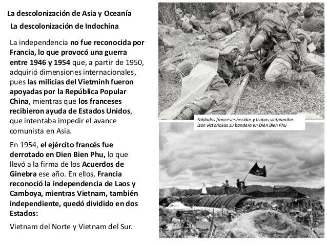 La descolonización de Asia y Oceanía Indonesia (antiguas Indias Orientales Holandesas) fue ocupada por los japoneses duran...