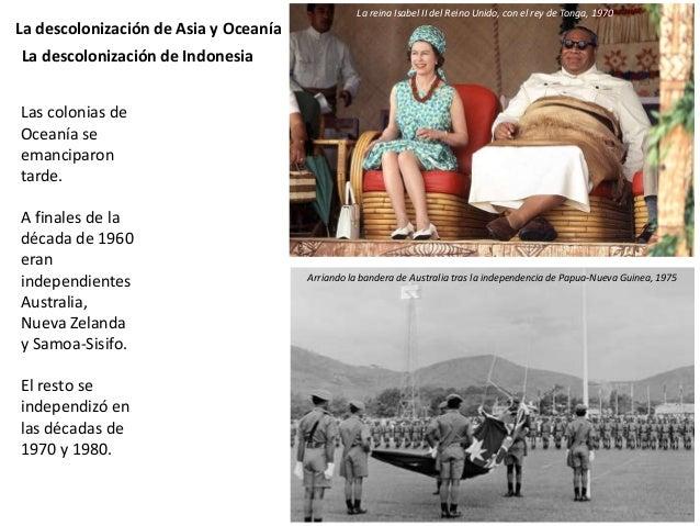 La descolonización de África El norte y noreste de África La conciencia nacional en los países de cultura musulmana se des...
