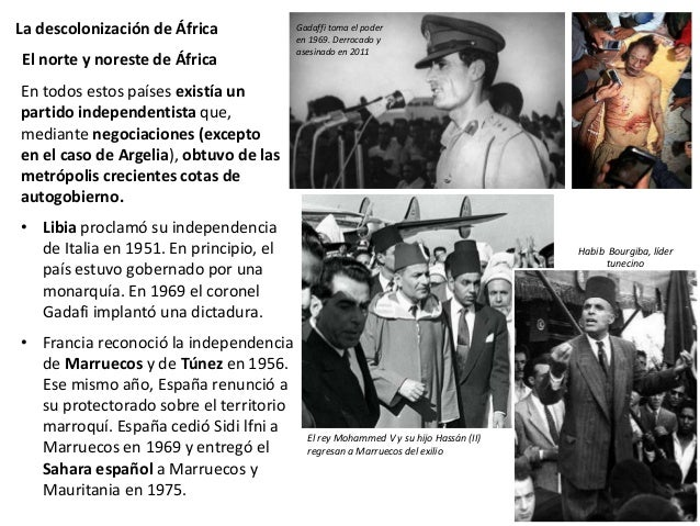 La descolonización de África Argelia vivió un largo y violento proceso de independencia largo. En 1954 comenzó la insurrec...