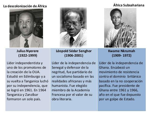 La descolonización de África Por estas razones, la formación de los nuevos Estados no fue sencilla, y tras la emancipación...