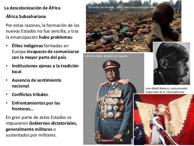 La descolonización de África África Subsahariana
