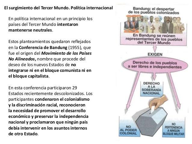 El surgimiento del Tercer Mundo. Política internacional