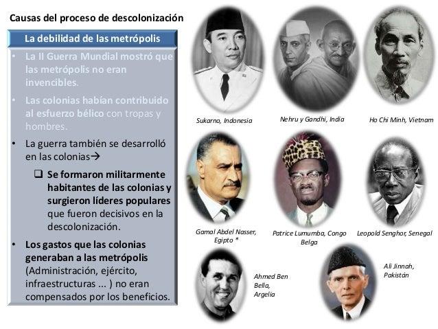 Causas del proceso de descolonización Sukarno, Indonesia La debilidad de las metrópolis • La II Guerra Mundial mostró que ...