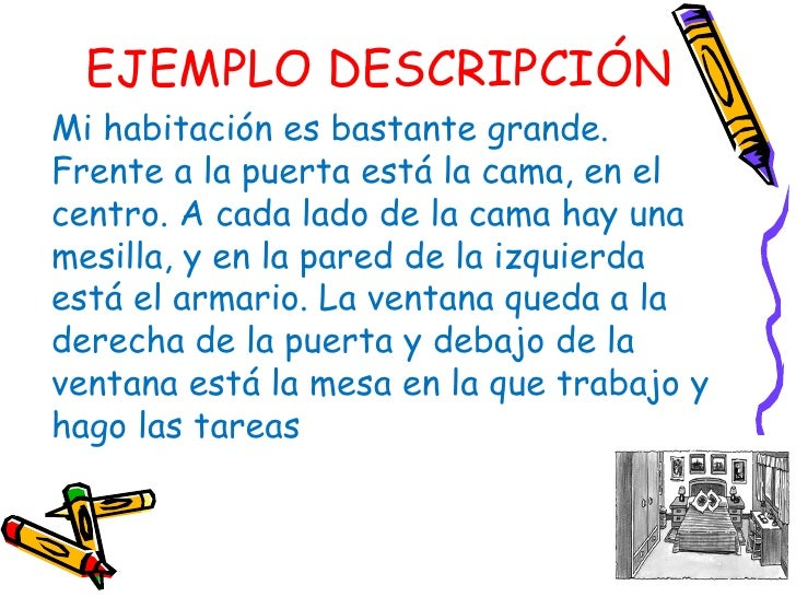 La descripci n for Descripcion de una cama
