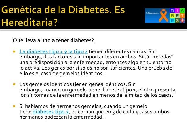 La diabetes es hereditaria?