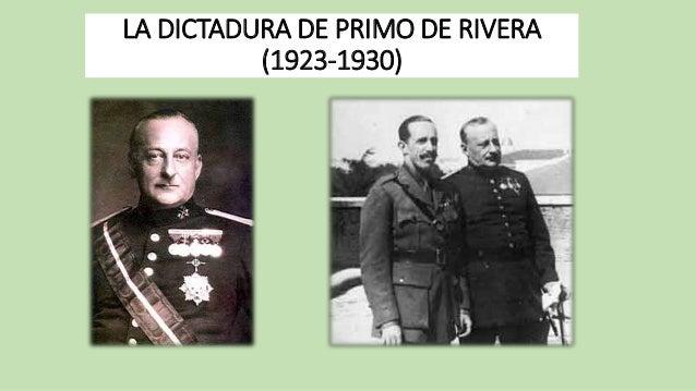 LA DICTADURA DE PRIMO DE RIVERA  (1923-1930)
