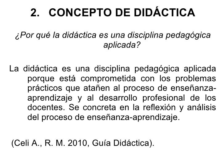 La did ctica disciplina pedag gica aplicada for Practica de oficina concepto