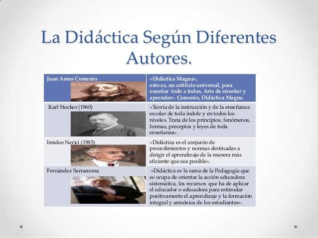 La Didáctica Según Diferentes Autores. Juan Amos Comenio  «Didáctica Magna», esto es, un artificio universal, para enseñar...