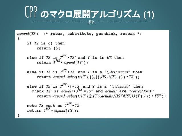 CPP のマクロ展開アルゴリズム (1)