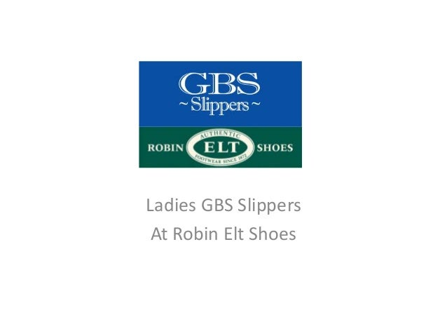 Ladies GBS Slippers At Robin Elt Shoes