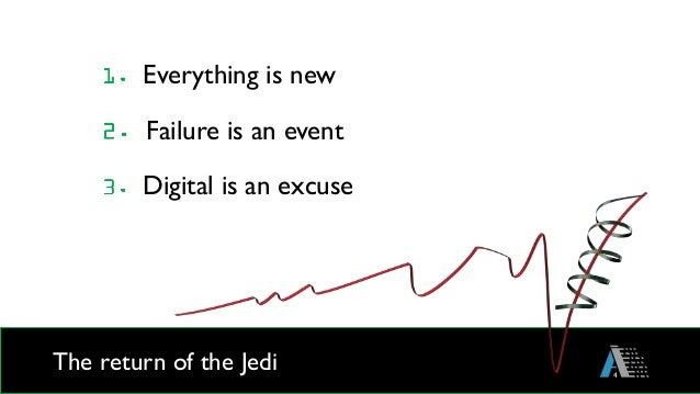 The return of the Jedi 4 Everything is new Failure is an event Digital is an excuse