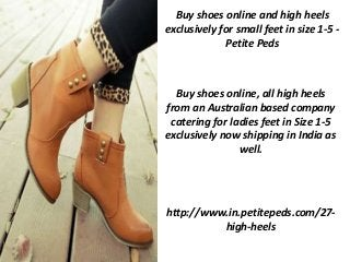 heels for small feet size 1