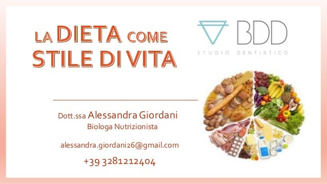 Dott.ssa Alessandra Giordani Biologa Nutrizionista alessandra.giordani26@gmail.com +39 3281212404